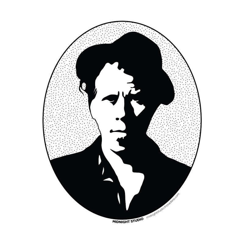 Tom Waits in Black Men's V-Neck by Midnight Studio