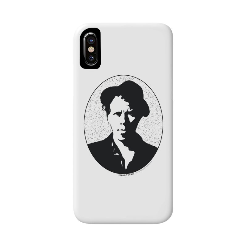 Tom Waits in Black Accessories Phone Case by Midnight Studio