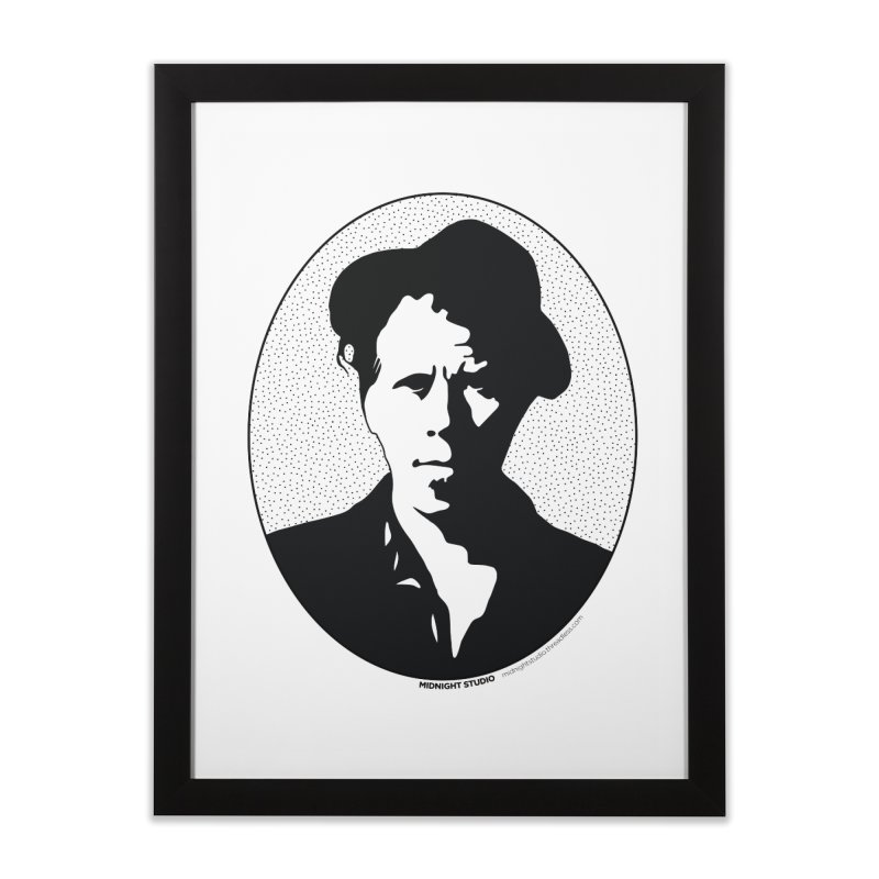Tom Waits in Black Home Framed Fine Art Print by Midnight Studio