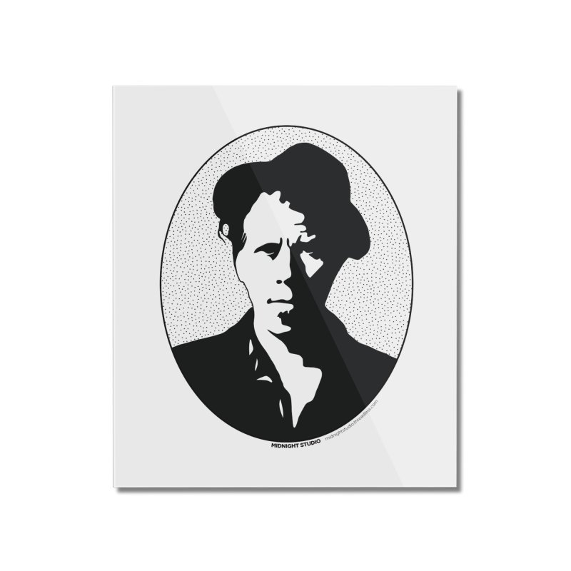 Tom Waits in Black Home Mounted Acrylic Print by Midnight Studio