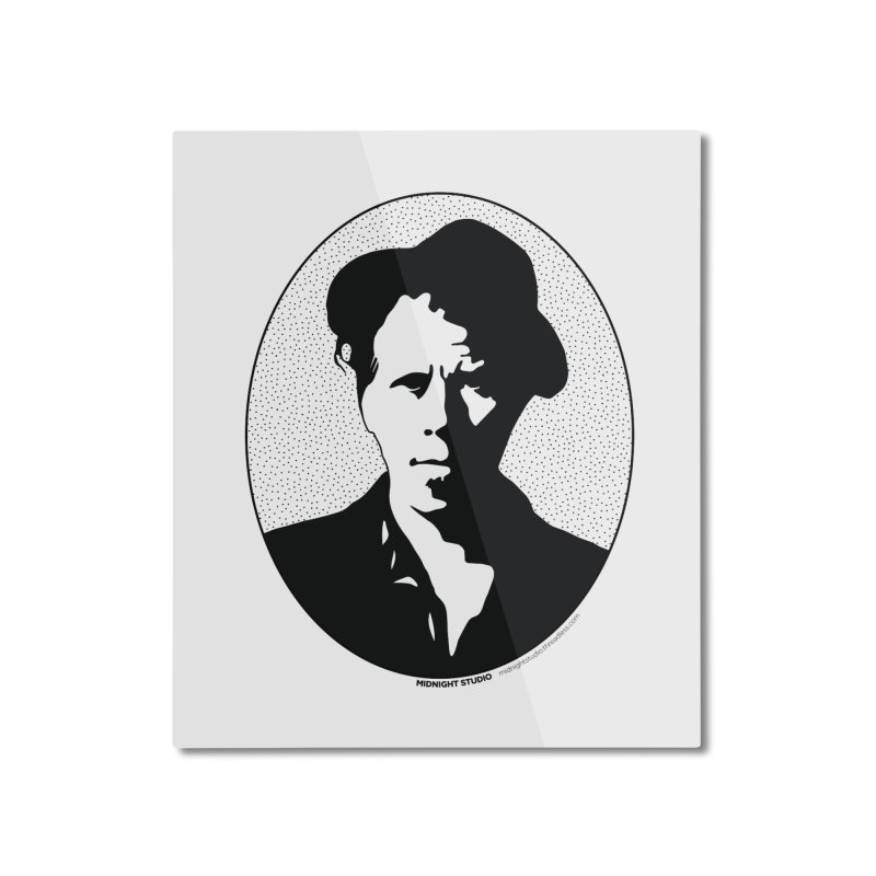 Tom Waits in Black Home Mounted Aluminum Print by Midnight Studio