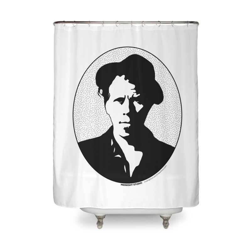 Tom Waits in Black Home Shower Curtain by Midnight Studio