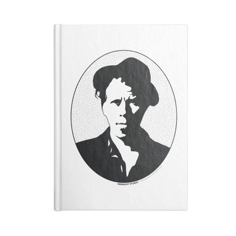 Tom Waits in Black Accessories Lined Journal Notebook by Midnight Studio