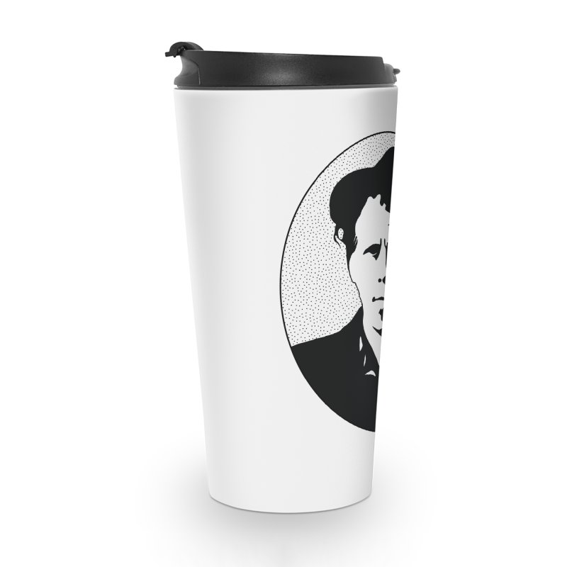 Tom Waits in Black Accessories Travel Mug by Midnight Studio