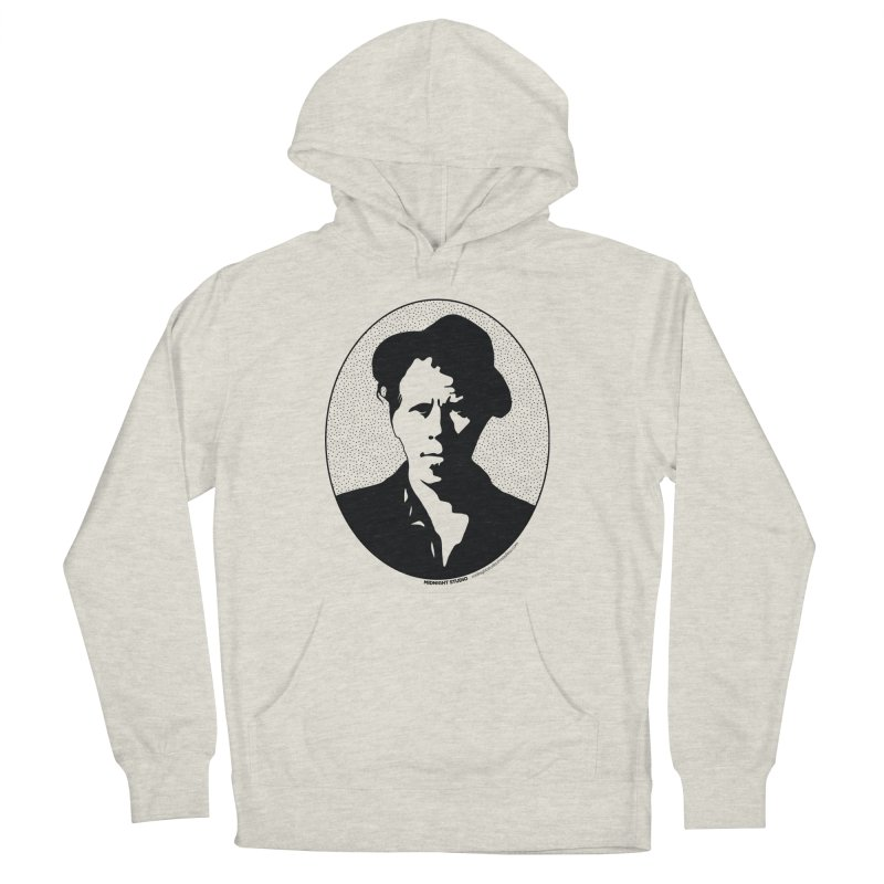 Tom Waits in Black Women's French Terry Pullover Hoody by Midnight Studio