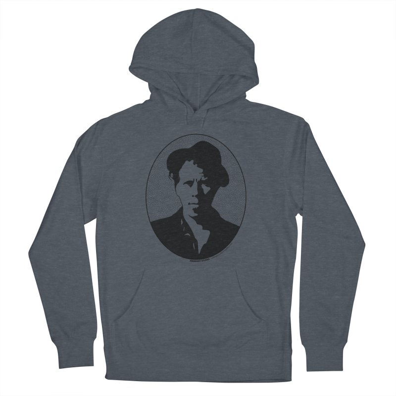 Tom Waits in Black Men's French Terry Pullover Hoody by Midnight Studio