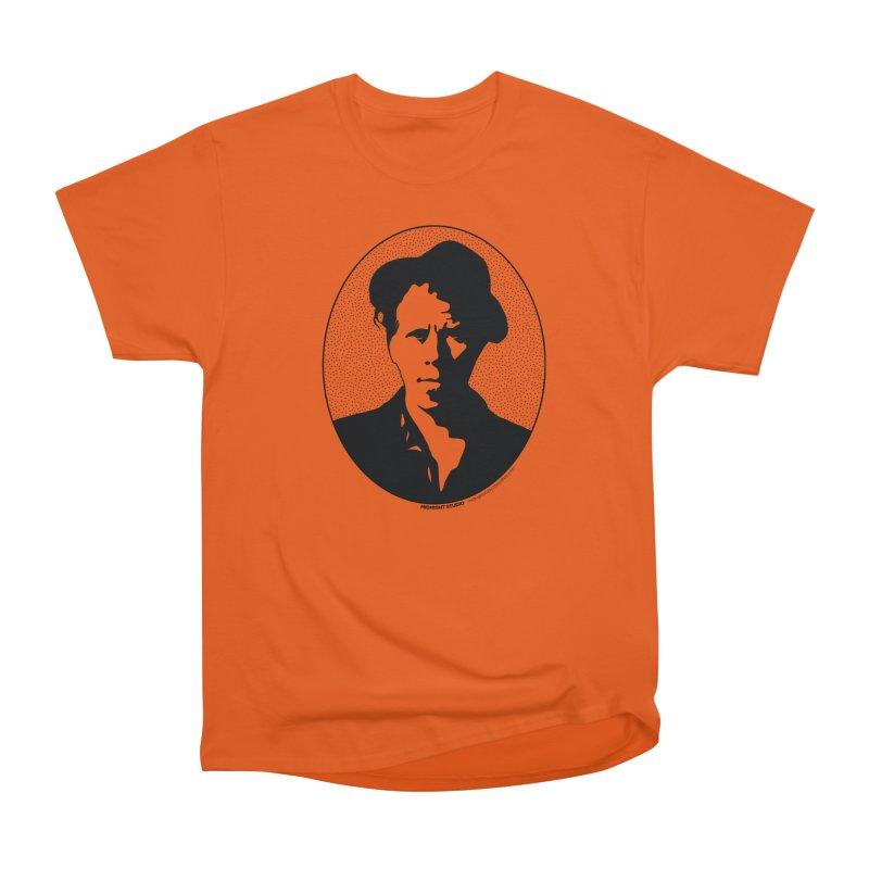 Tom Waits in Black Women's Heavyweight Unisex T-Shirt by Midnight Studio