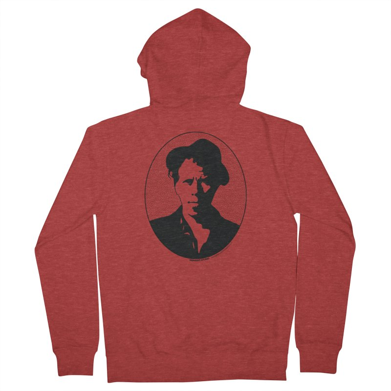 Tom Waits in Black Women's French Terry Zip-Up Hoody by Midnight Studio