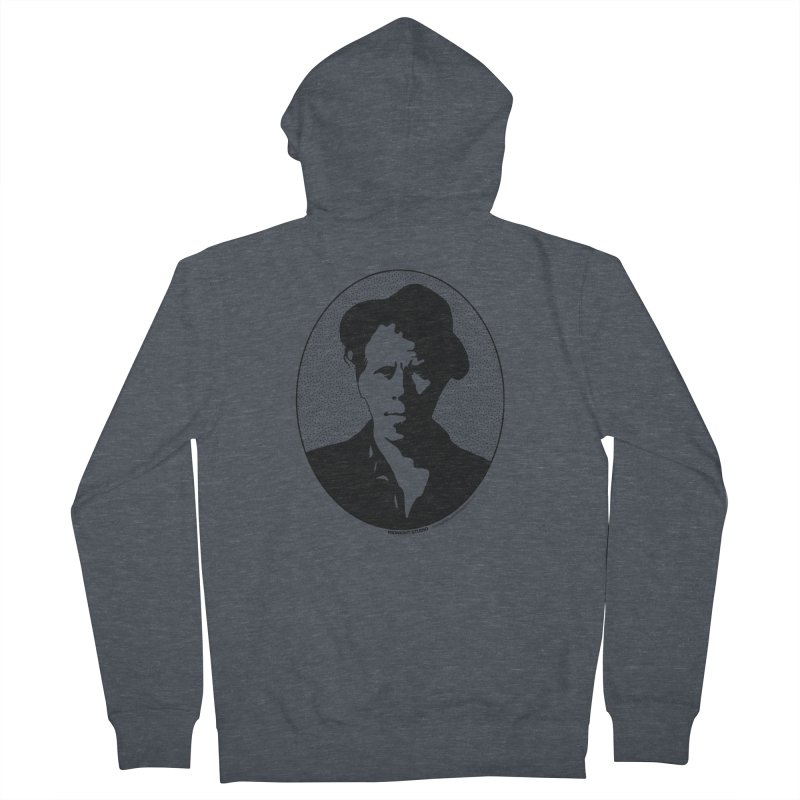 Tom Waits in Black Men's French Terry Zip-Up Hoody by Midnight Studio