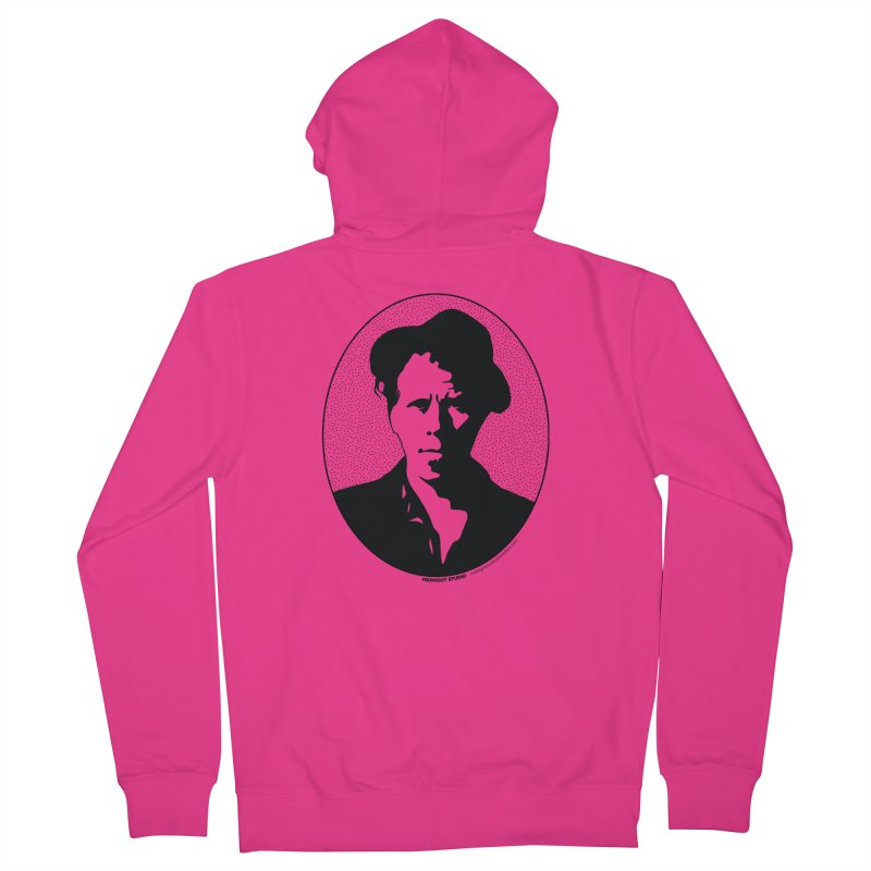 Tom Waits in Black Men's Zip-Up Hoody by Midnight Studio
