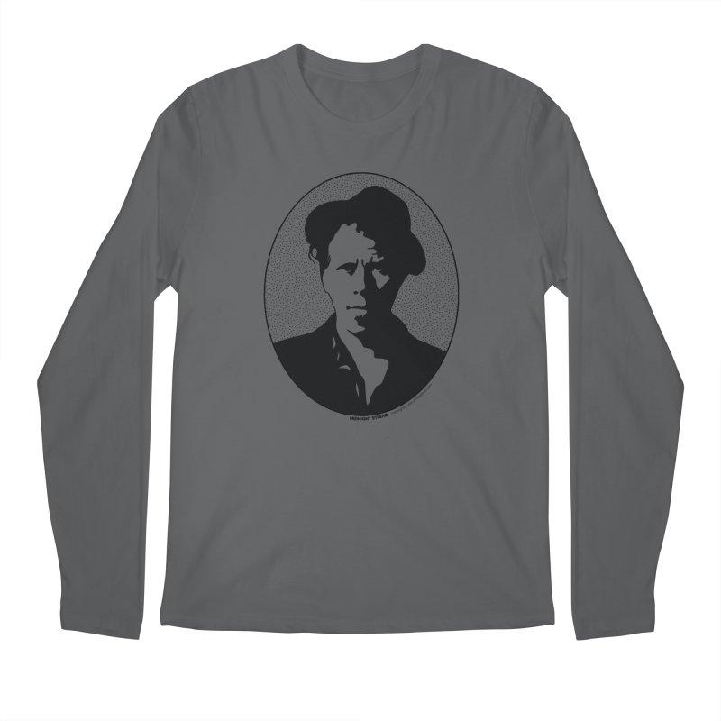 Tom Waits in Black Men's Regular Longsleeve T-Shirt by Midnight Studio