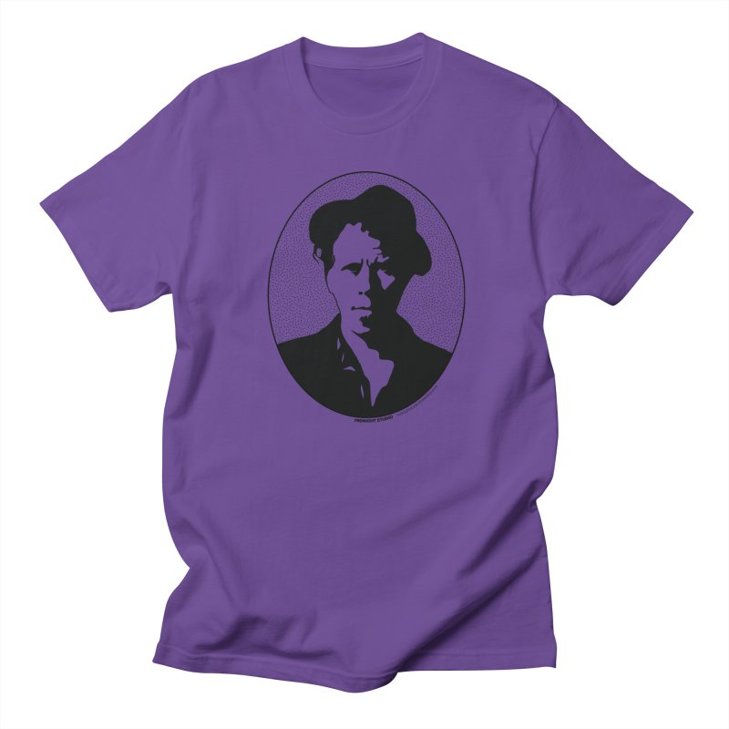 Tom Waits in Black Men's Regular T-Shirt by Midnight Studio