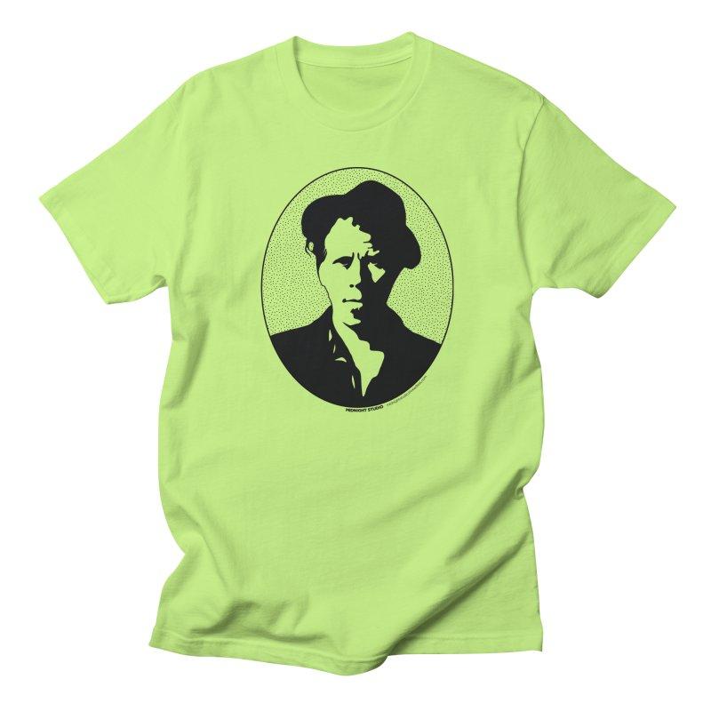 Tom Waits in Black Men's Regular T-Shirt by Midnight Studio