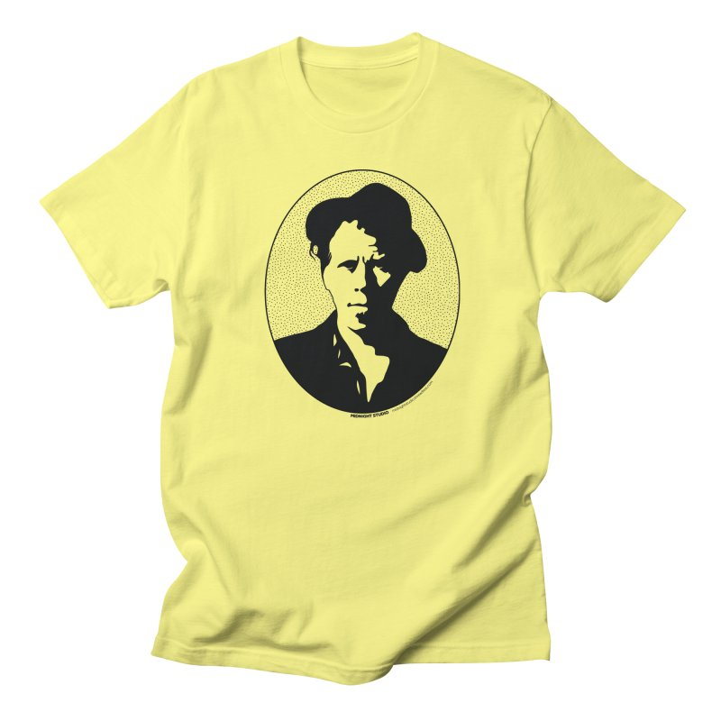 Tom Waits in Black Men's T-Shirt by Midnight Studio