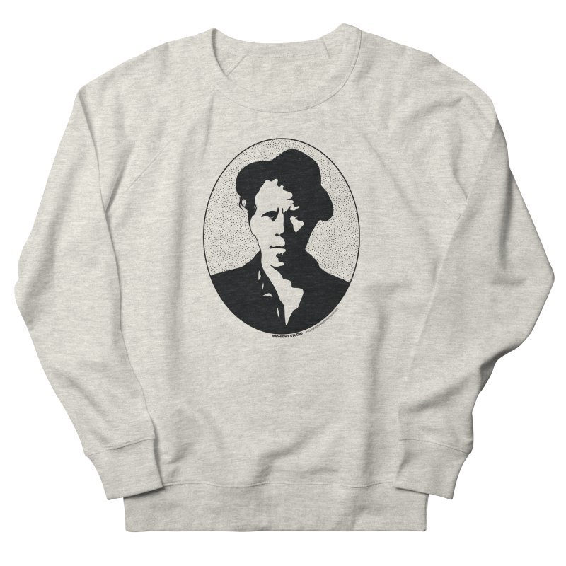 Tom Waits in Black Women's French Terry Sweatshirt by Midnight Studio
