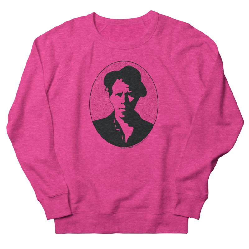 Tom Waits in Black Men's French Terry Sweatshirt by Midnight Studio