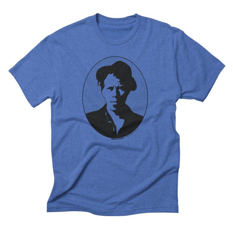 Tom Waits in Black Men's Triblend T-Shirt by Midnight Studio