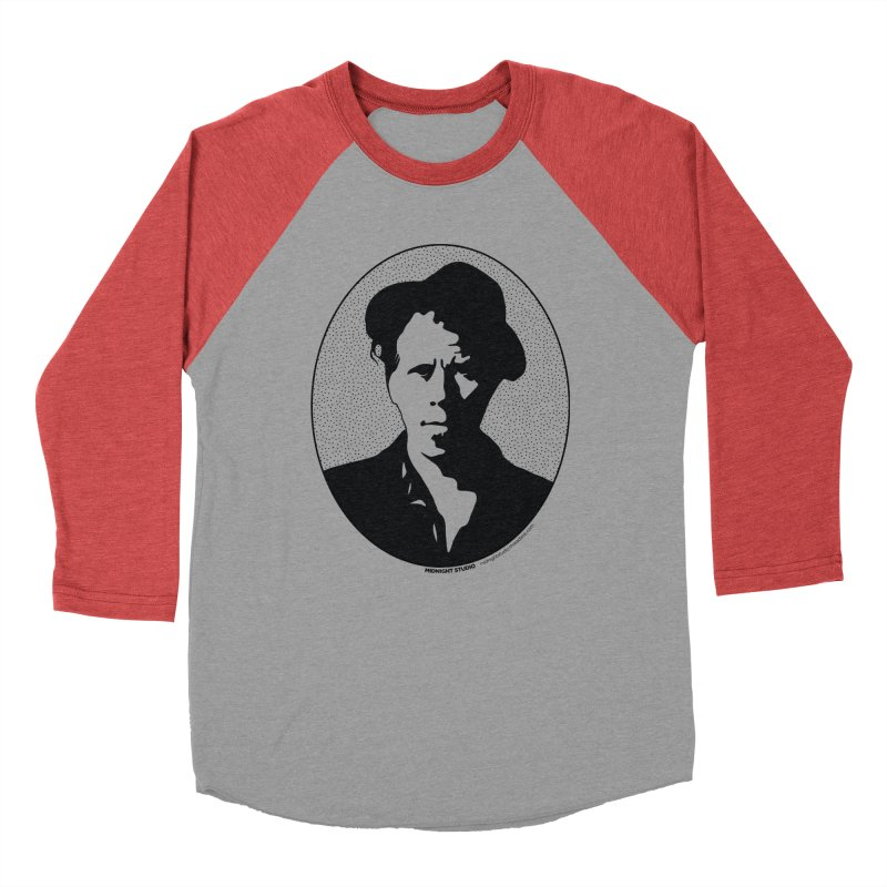 Tom Waits in Black Men's Baseball Triblend Longsleeve T-Shirt by Midnight Studio