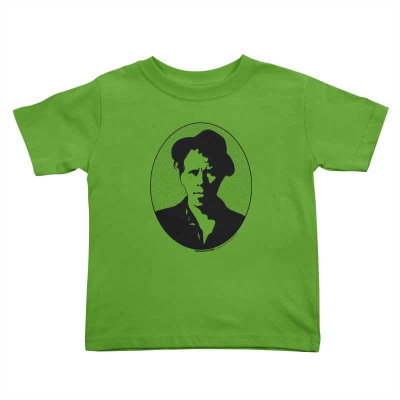 Tom Waits in Black Kids Toddler T-Shirt by Midnight Studio