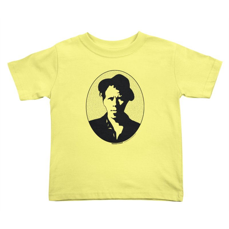 Tom Waits in Black Kids Toddler T-Shirt by Midnight Studio
