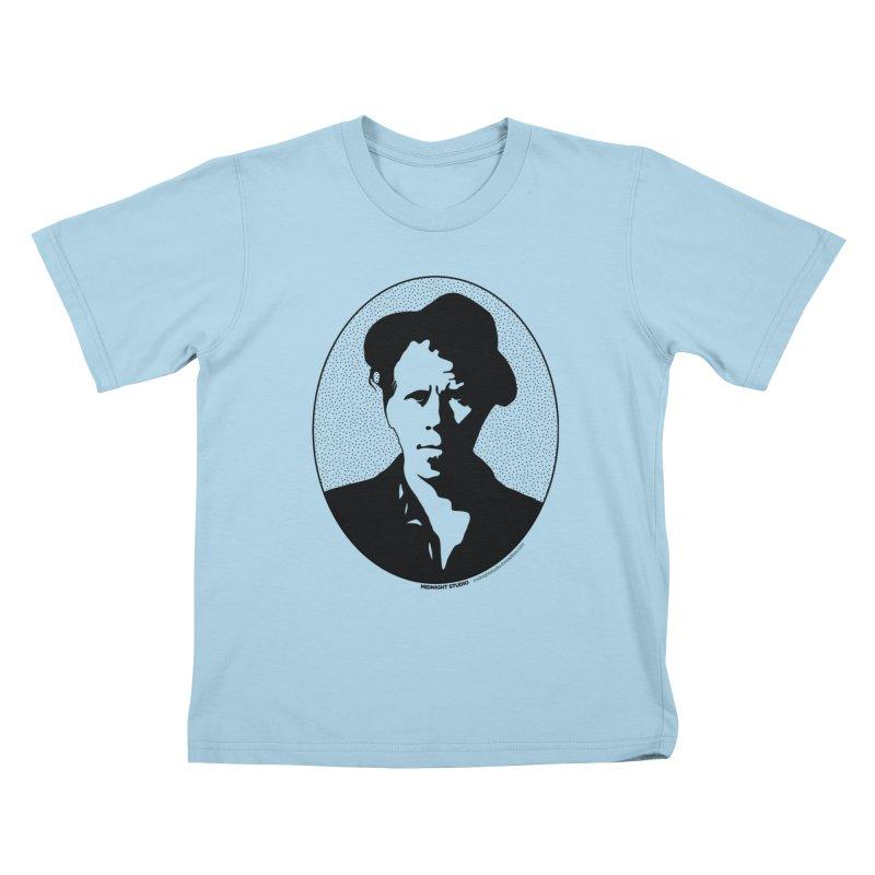 Tom Waits in Black Kids T-Shirt by Midnight Studio
