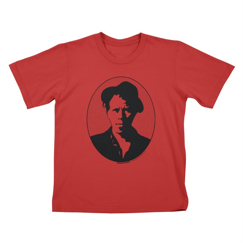 Tom Waits in Black Kids T-Shirt by Midnight Studio