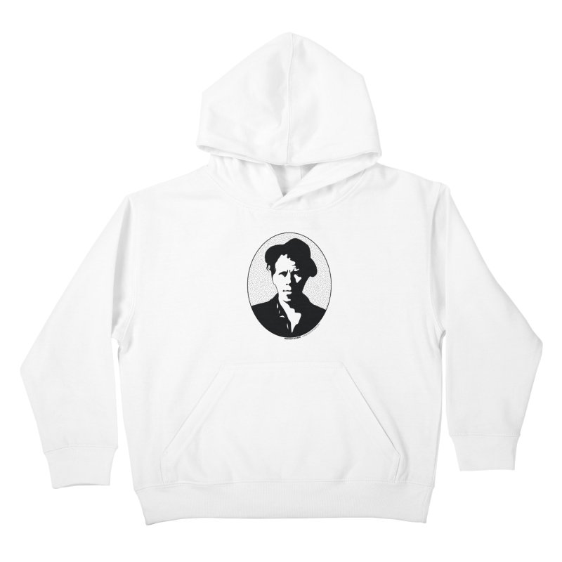Tom Waits in Black Kids Pullover Hoody by Midnight Studio