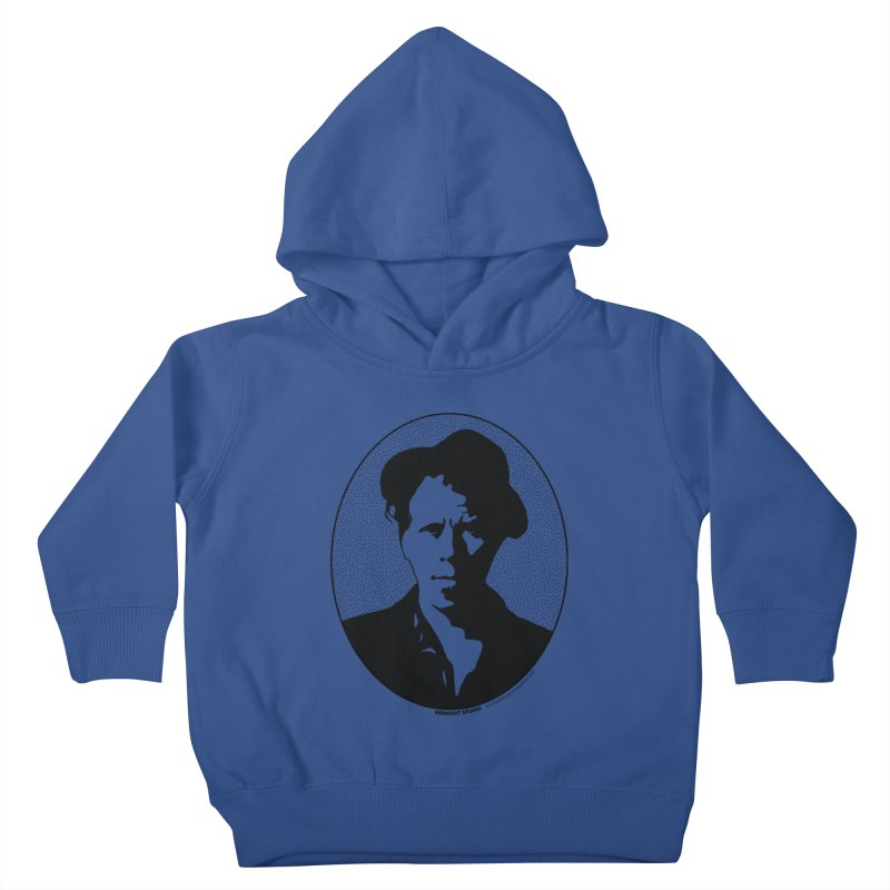 Tom Waits in Black Kids Toddler Pullover Hoody by Midnight Studio