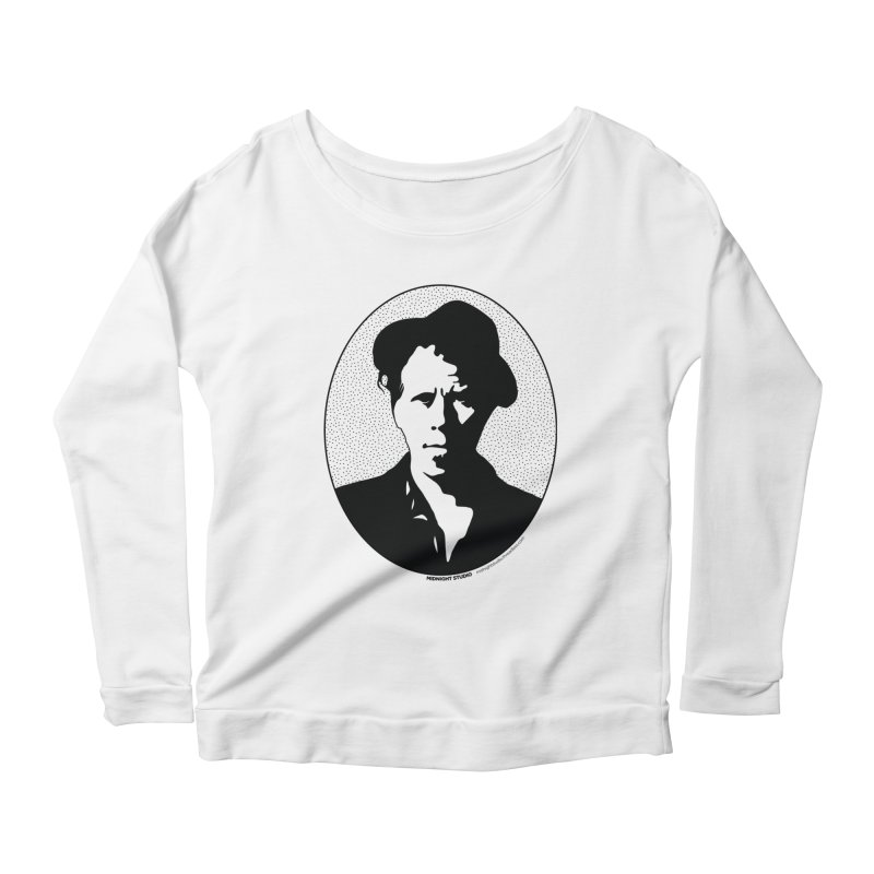 Tom Waits in Black Women's Scoop Neck Longsleeve T-Shirt by Midnight Studio