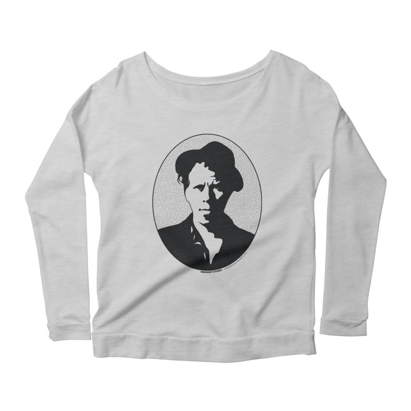Tom Waits in Black Women's Scoop Neck Longsleeve T-Shirt by Midnight Studio