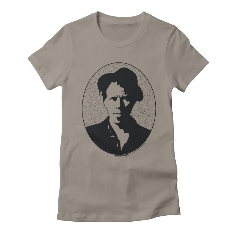 Tom Waits in Black Women's Fitted T-Shirt by Midnight Studio