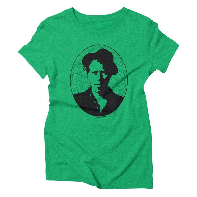 Tom Waits in Black Women's Triblend T-Shirt by Midnight Studio
