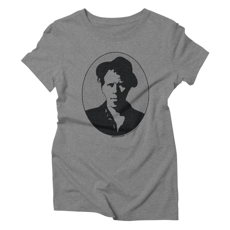 Tom Waits in Black Women's Triblend T-Shirt by Midnight Studio