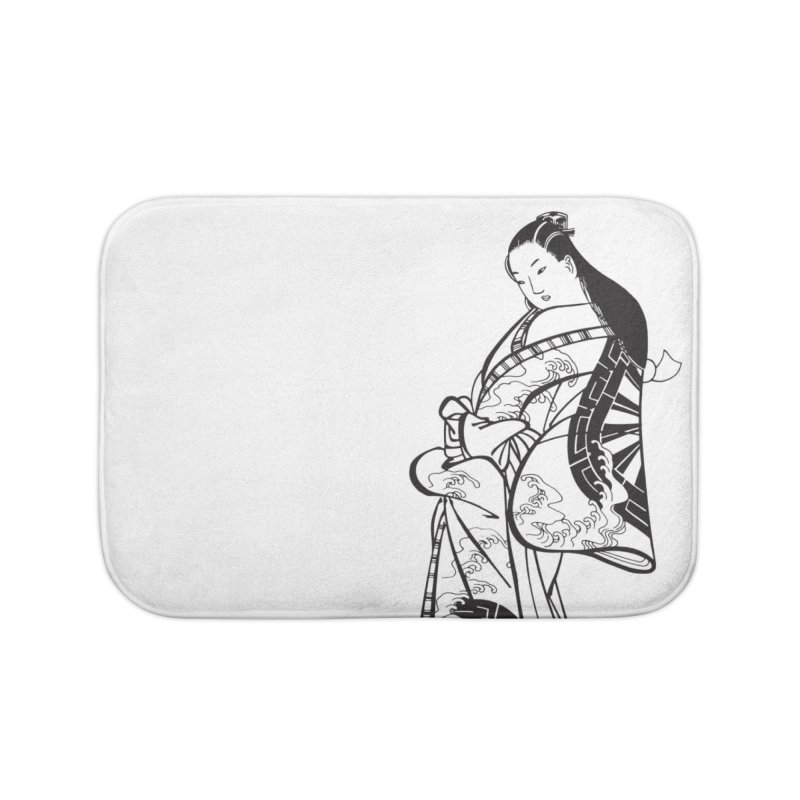 Geisha Home Bath Mat by Midnight Studio