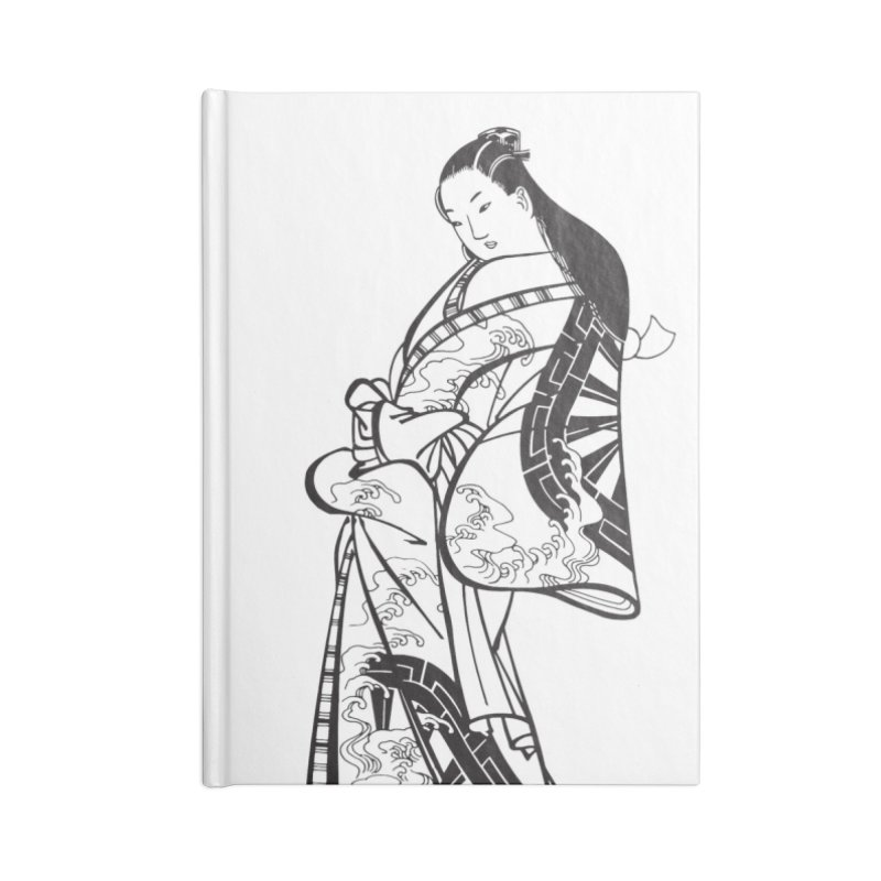 Geisha Accessories Blank Journal Notebook by Midnight Studio