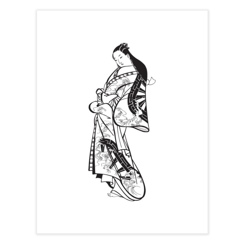 Geisha Home Fine Art Print by Midnight Studio