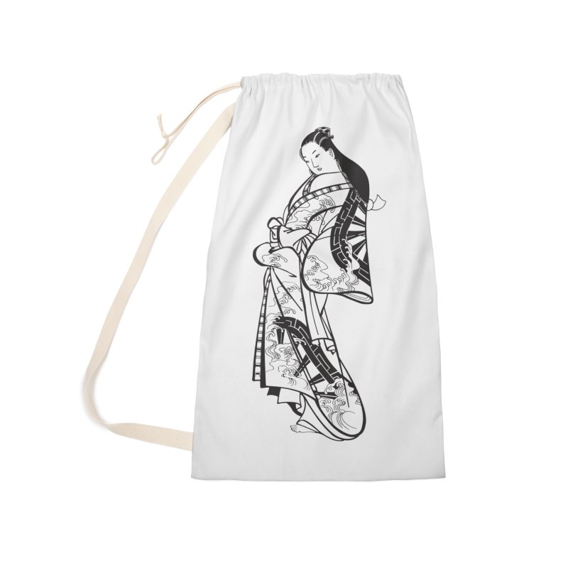 Geisha Accessories Laundry Bag Bag by Midnight Studio