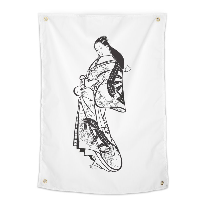 Geisha Home Tapestry by Midnight Studio