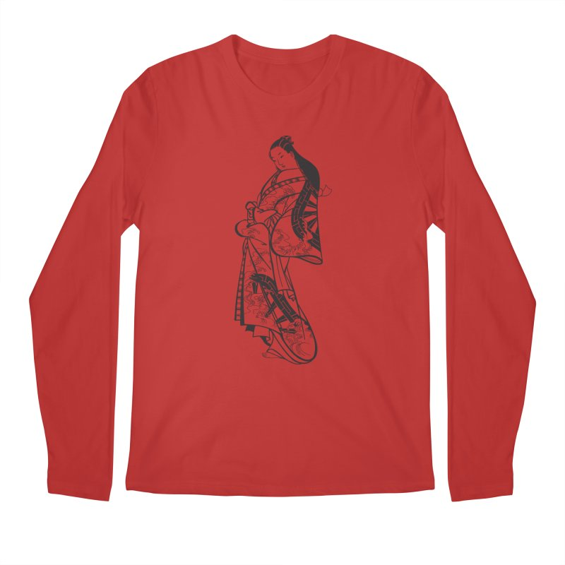 Geisha Men's Longsleeve T-Shirt by Midnight Studio
