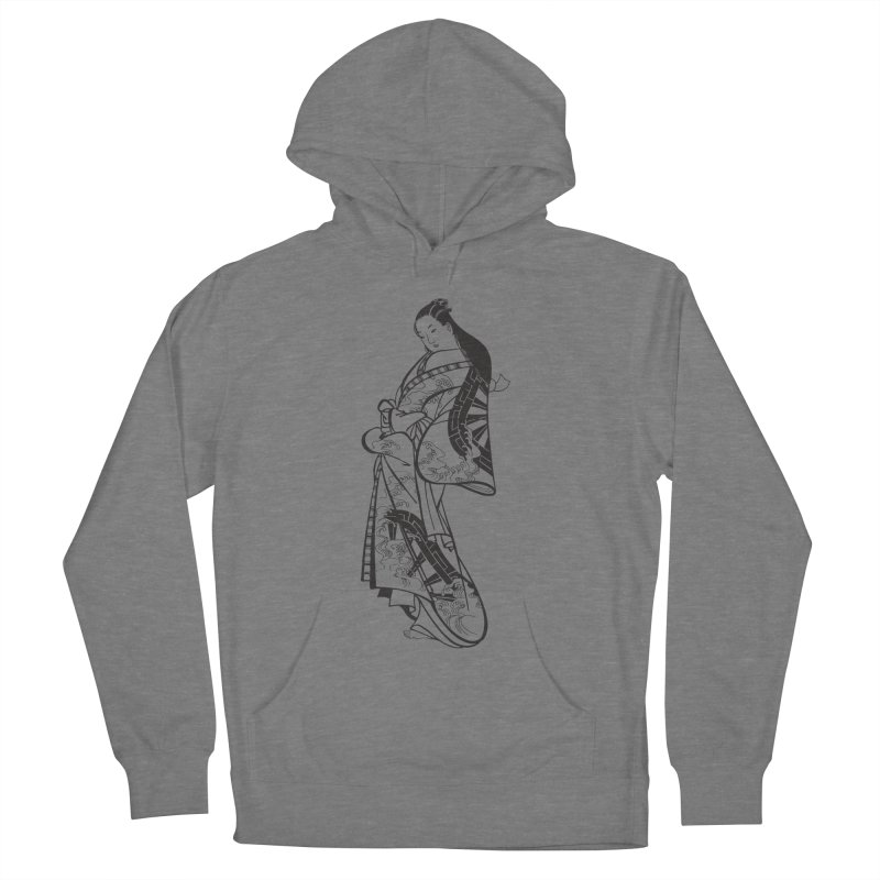 Geisha Women's French Terry Pullover Hoody by Midnight Studio
