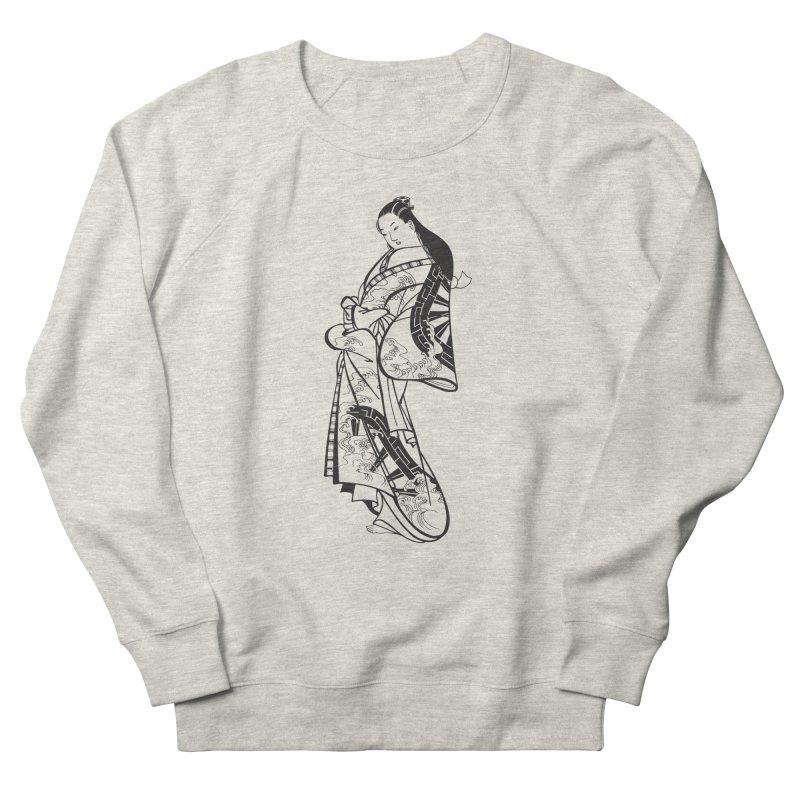 Geisha Women's French Terry Sweatshirt by Midnight Studio