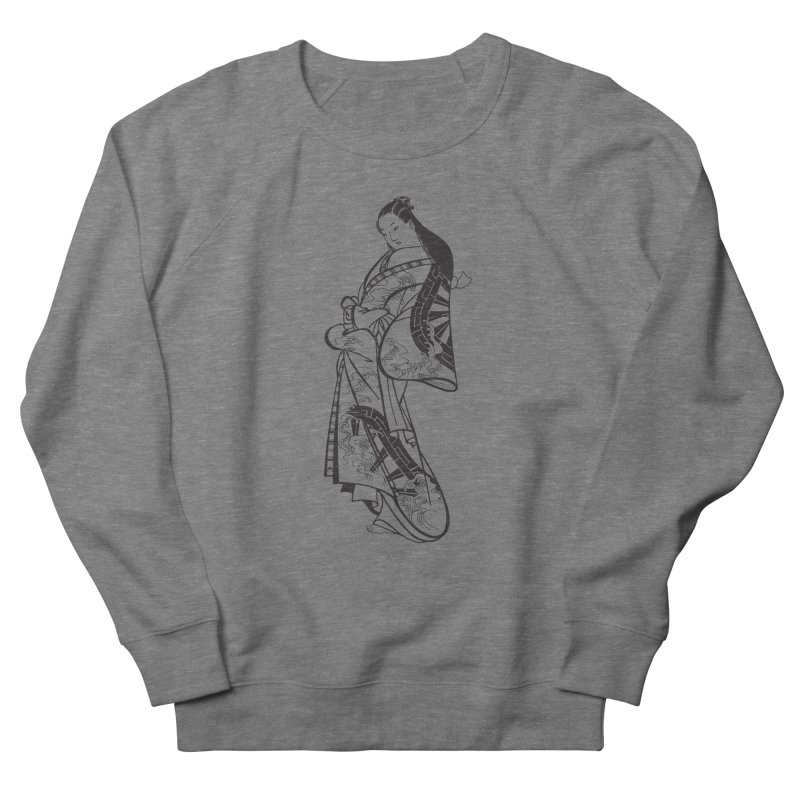 Geisha Men's French Terry Sweatshirt by Midnight Studio