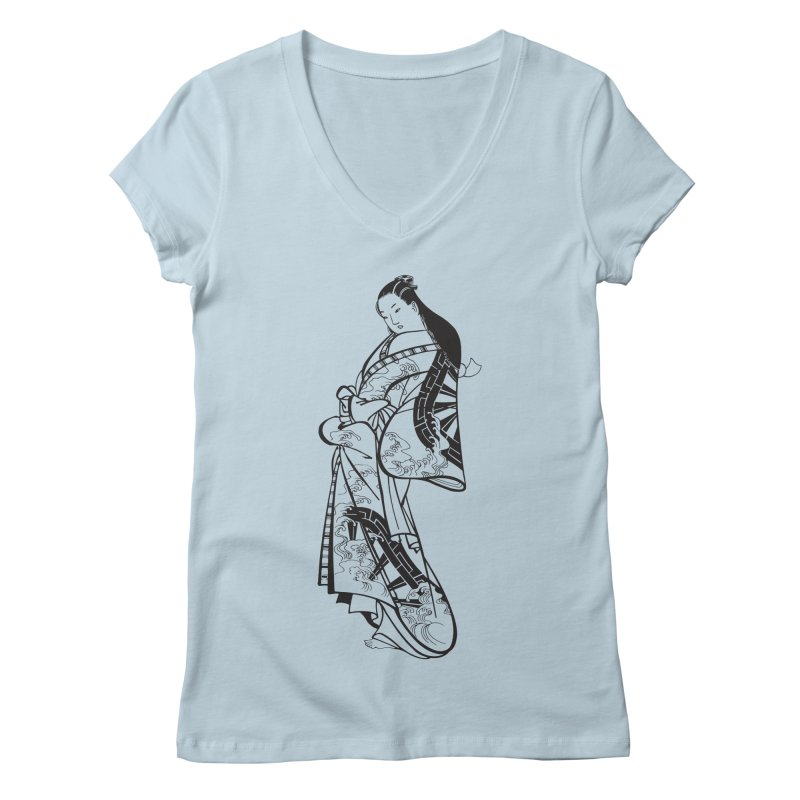 Geisha Women's Regular V-Neck by Midnight Studio