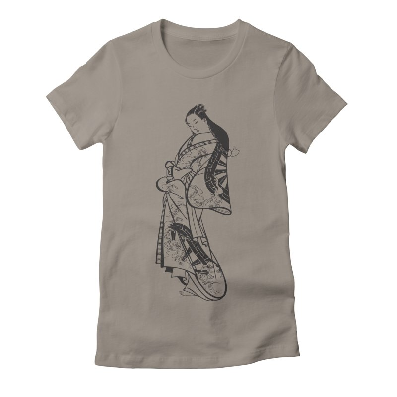 Geisha Women's Fitted T-Shirt by Midnight Studio