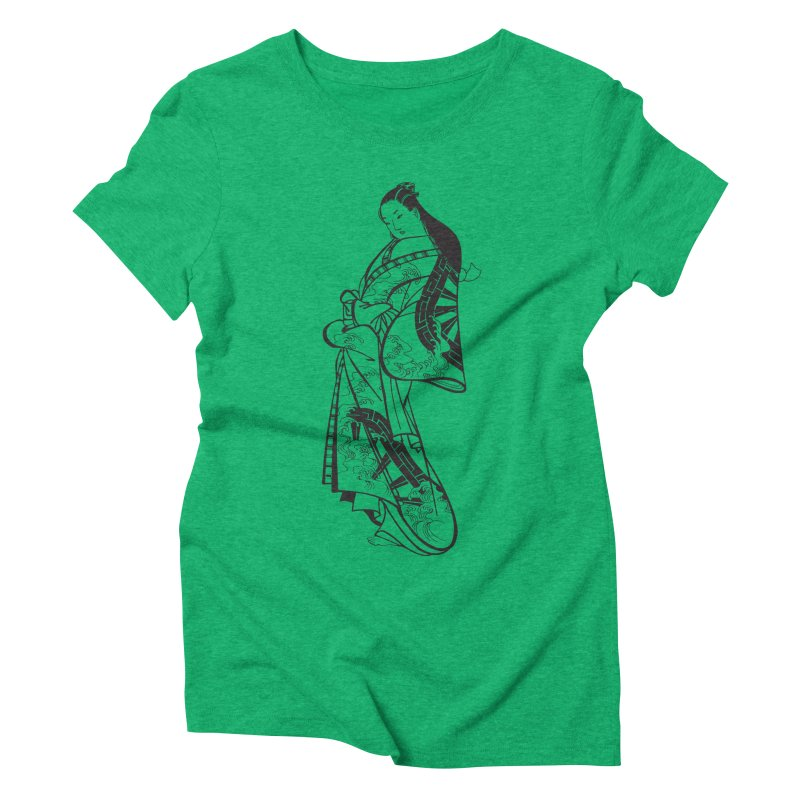 Geisha Women's Triblend T-Shirt by Midnight Studio