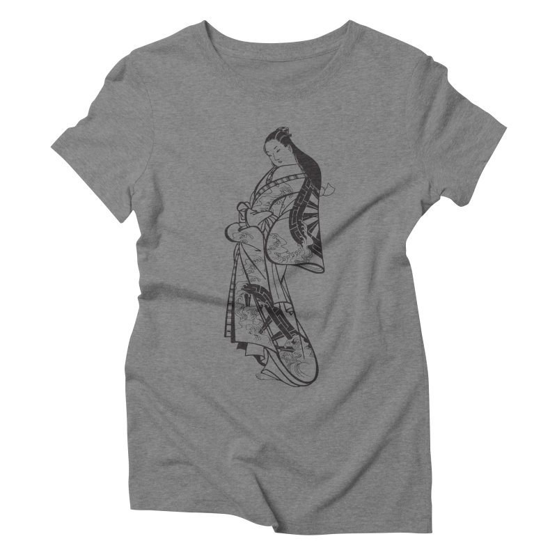 Geisha Women's Triblend T-Shirt by Midnight Studio