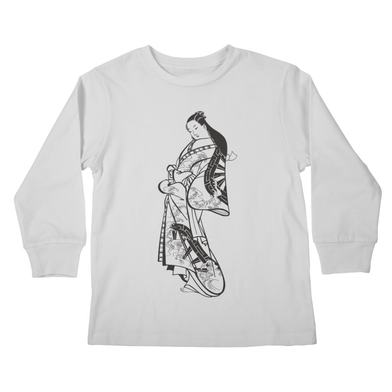 Geisha Kids Longsleeve T-Shirt by Midnight Studio