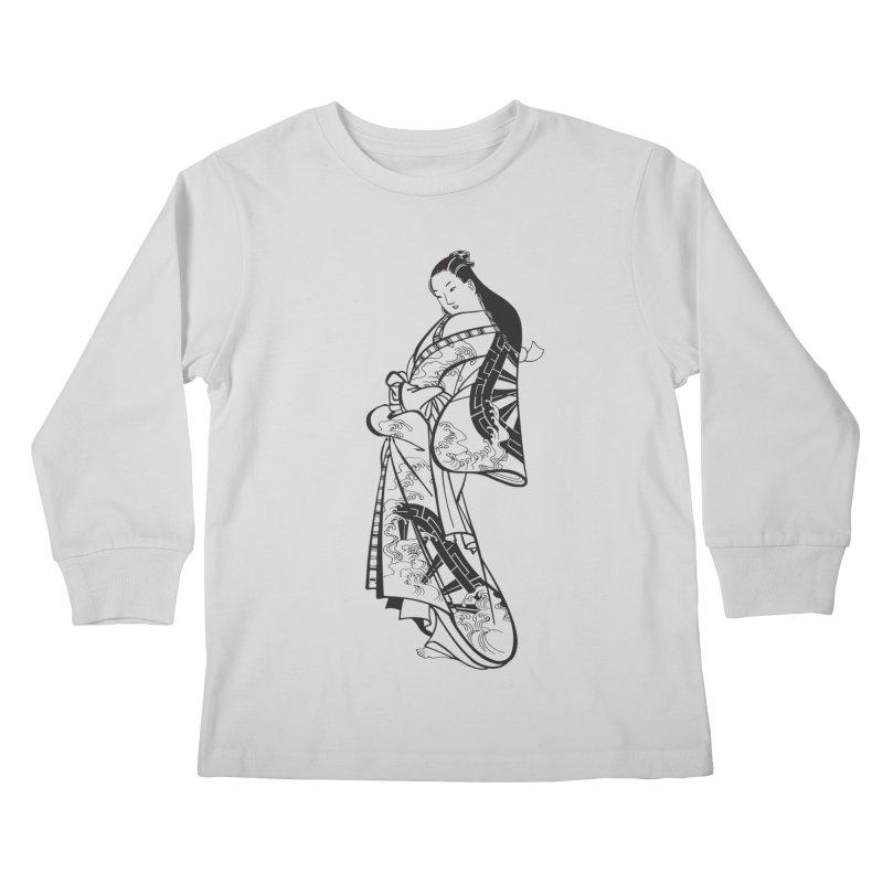 Geisha Kids Longsleeve T-Shirt by Midnight Studio
