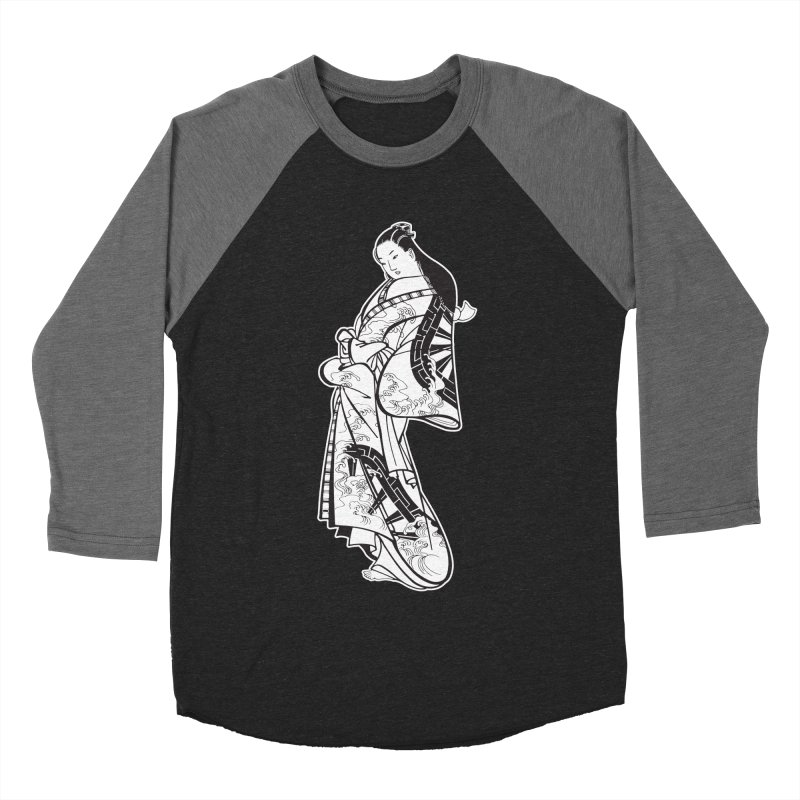 Geisha - Black Women's Baseball Triblend T-Shirt by Midnight Studio