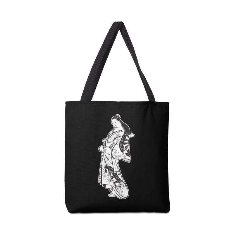 Geisha - Black Accessories Tote Bag Bag by Midnight Studio